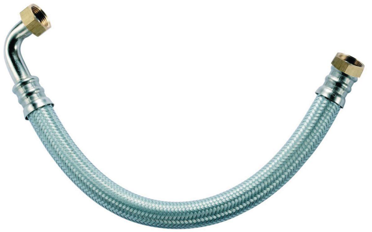 Flexible sanitaire femelle femelle 15 x 21 DN 8 coudé longueur 500 ALTECH