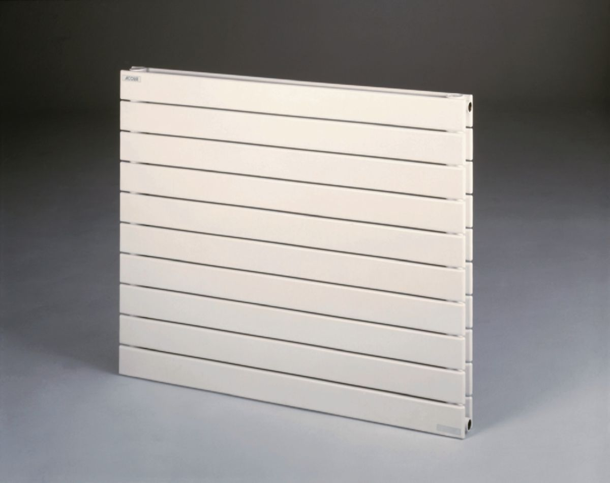 Radiateur FASSANE eau chaude horizontal simple 532 w haut 592 largeur 800 8 éléments blanc réf. VX-059-080