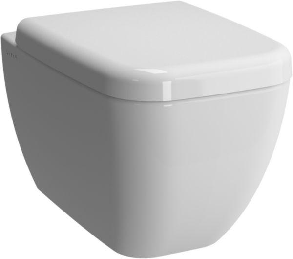 WC suspendu DAILY'C sans bride, abattant recouvrant, frein de chute