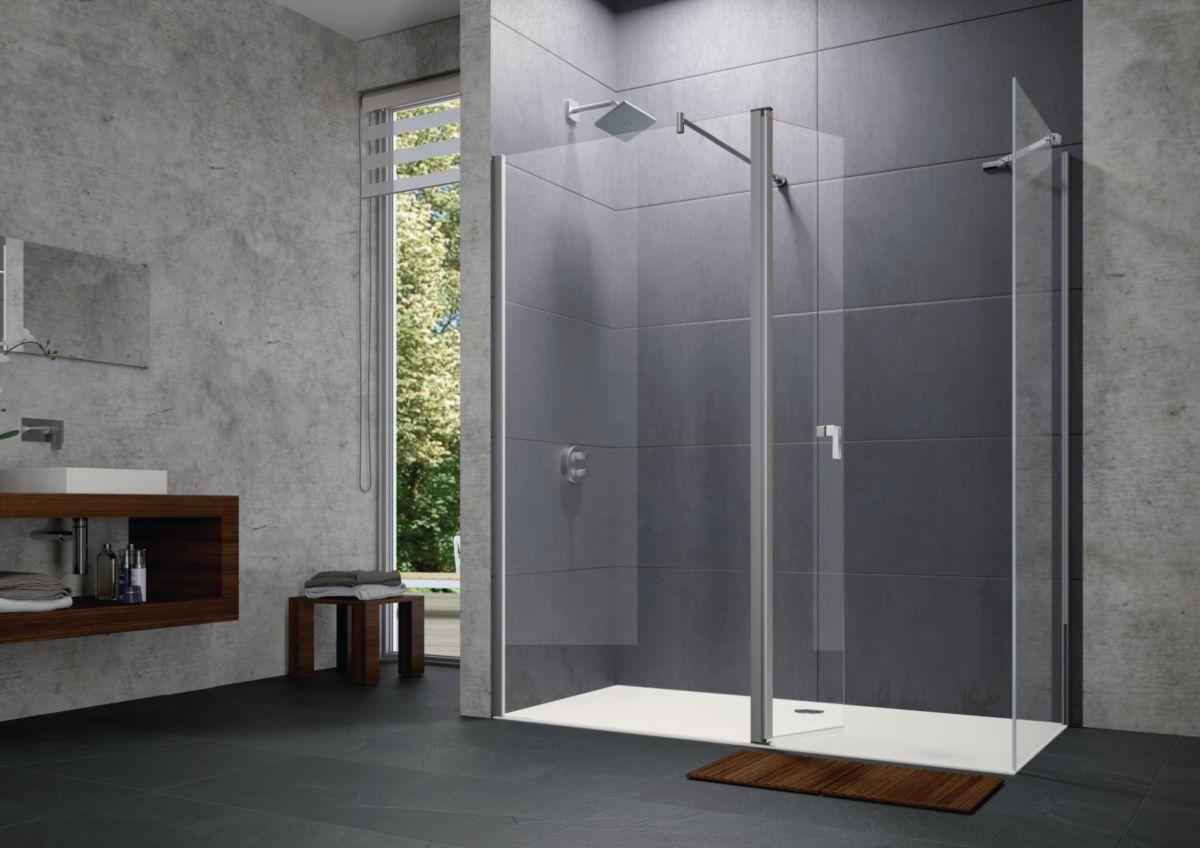 huppe paroi de douche design pure paroi lat rale seule avec barre transversale r versible. Black Bedroom Furniture Sets. Home Design Ideas