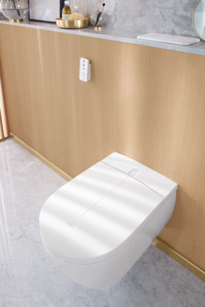 WC lavant ViClean I-100 cuvette à fond creu x sans bride Blanc CeramicPlus Réf. V0E100R1