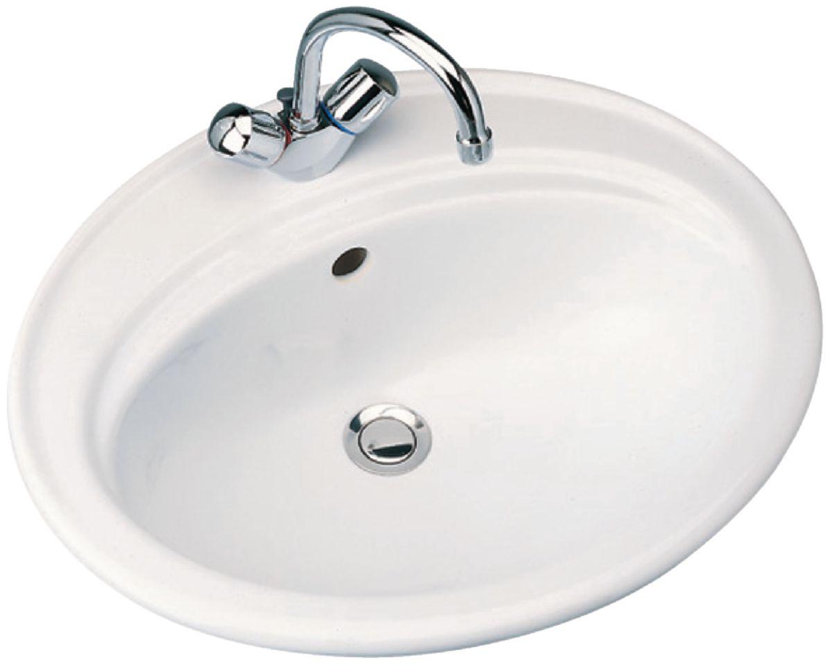 vasque ceramique ou porcelaine Vasque à encastrer ULYSSE Lg : 55 cm Céramique blanc Réf. P144801 ...