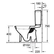 Pack wc sur pied o novo plus avec cuvette sortie verticale et abattant frein de chute et - Wc evacuation verticale ...