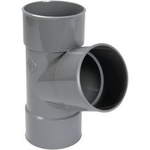 Culotte simple 67°30 FF PVC pour tube d'évacuation gris - Ø 75 mm