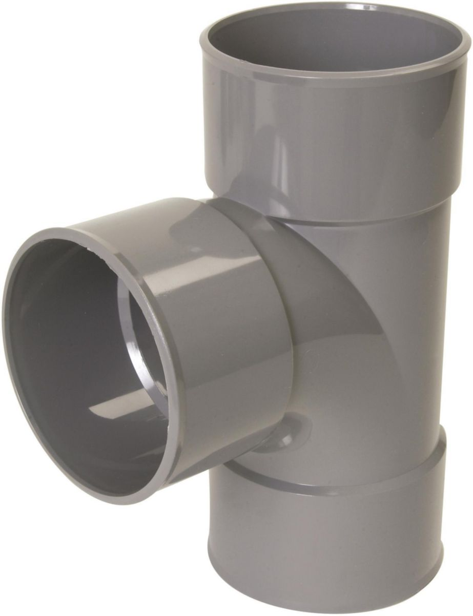 Culotte FF simple 87°30 - BY188 - PVC gris - Ø 140 mm