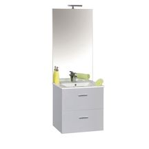 NEOVA Sous-Vasque ANGELO 2 coulissants H60cm L70cm Blanc brillant réf: A0508184
