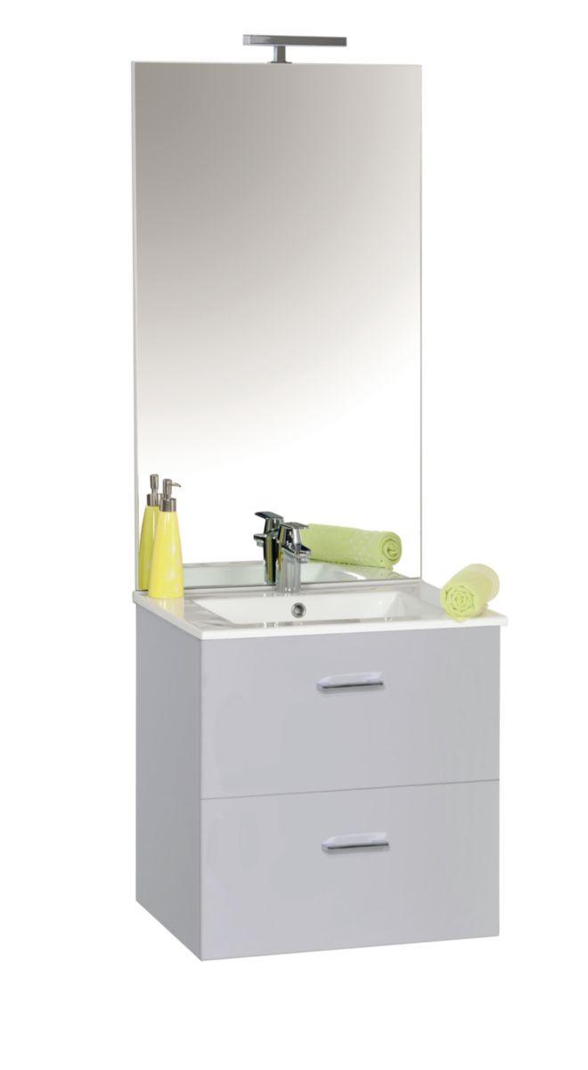 meuble sous vasque h 600 mm 2 coulissants fermeture frein e tiroir m tal simple paroi sortie. Black Bedroom Furniture Sets. Home Design Ideas