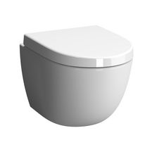 WC suspendu compact DAILY'O 2 caréné, abattant recouvrant, frein de chute, déclipsable