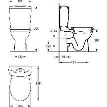 Pack wc kheops3 gain de place comprenant 1 cuvette sortie horizontale 1 r - Lapeyre wc gain de place ...