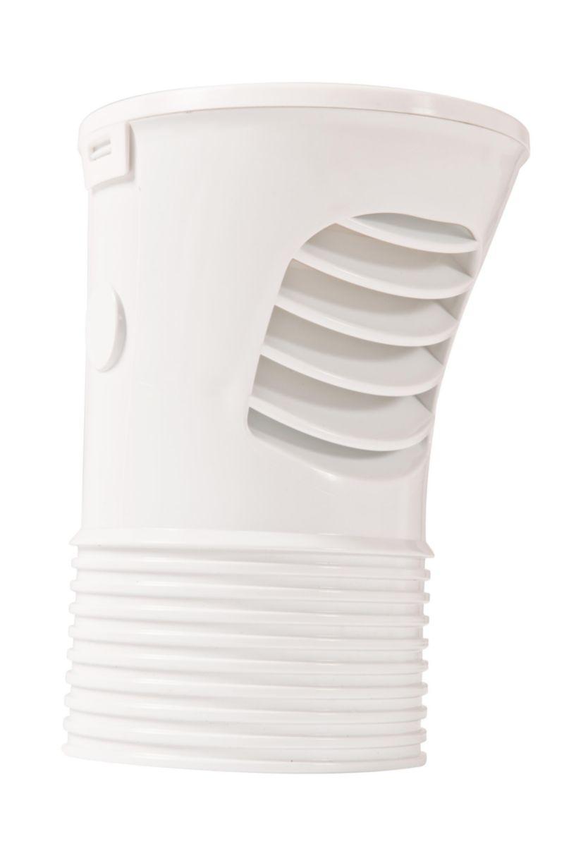 Clapet aérateur équilibreur de pression + DTA - CEP100 - PVC blanc - Ø 100/110 mm - 147x132x190 mm