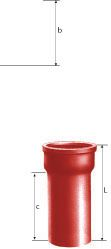 Raccord droit en fonte SME diamètre nominal 150mm Réf. 156210 PAM