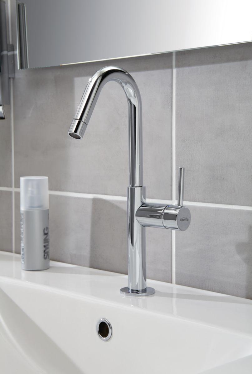 Mitigeur lavabo DESIGN 2 bec haut