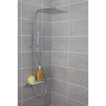 colonne douche avec mitigeur thermostatique domino chrom alterna sanitaire cedeo. Black Bedroom Furniture Sets. Home Design Ideas