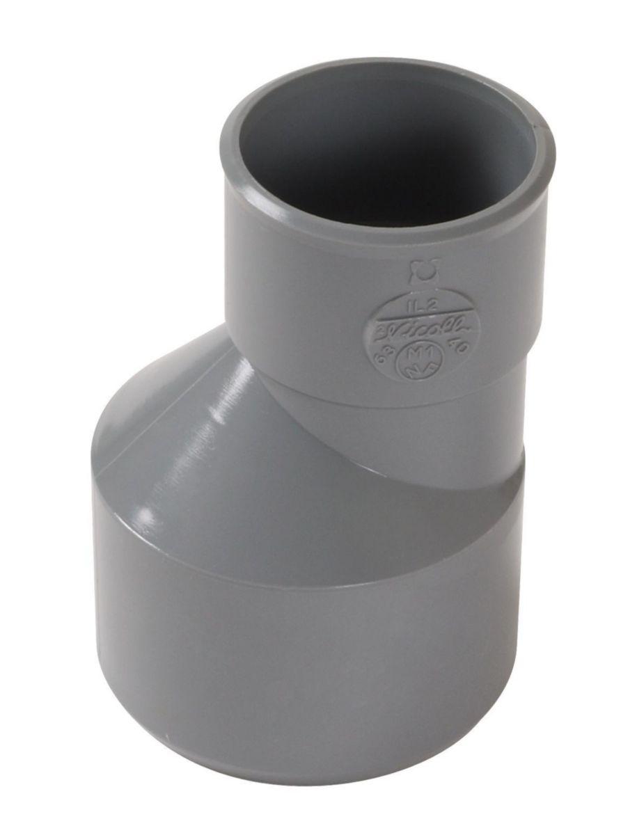 Réduction extérieure excentrée mâle-femelle  - IL2 - PVC gris - Ø 63/40 mm