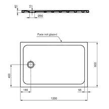 receveur design ultraplat 120 x 80 cm antid rapant bonde. Black Bedroom Furniture Sets. Home Design Ideas