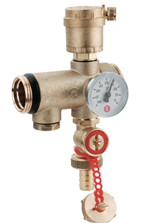 Raccord intermédiaire avec thermomètre intégré R554 D diamètre : 1 1/4 réf. R554DY006
