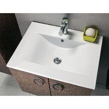 Plan c ramique 1 vasque seducta 60 cm blanc alterna sanitaire cedeo - Plan vasque ceramique ...