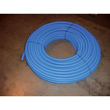 Tube UNIPIPE dimension 16x2 blanc pr�- fourreaut� bleu 75m 1013675