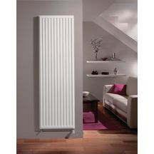 radiateur eau chaude reggane 3000 type 20 vertical blanc largeur 600mm hauteur 1800mm 1644w r f. Black Bedroom Furniture Sets. Home Design Ideas