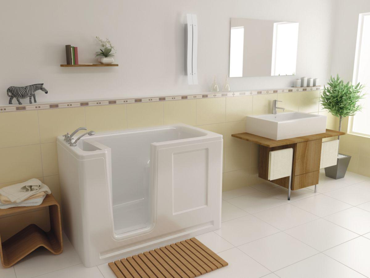 Genial Baignoire AZALEE 130x75 Cm Porte à Droite Réf. 1001303000   BANYA    Sanitaire  CEDEO Photos