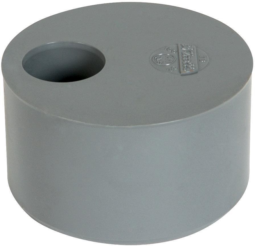 Tampon de réduction simple MF - T9 - PVC gris - Ø 100/90 mm