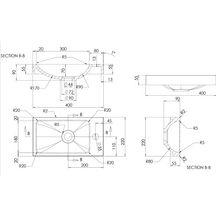 plan vasque lave mains woodstock lg 40 cm blanc brillant 6138 alterna sanitaire cedeo. Black Bedroom Furniture Sets. Home Design Ideas
