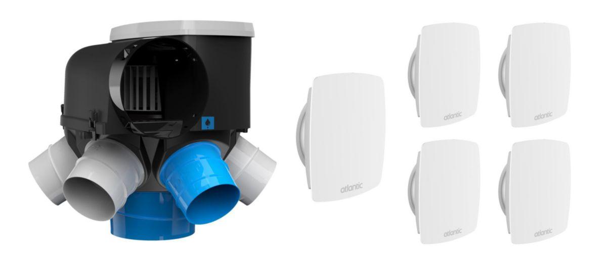 kit autocosy vmc auto intelligente 6 sanitaires (5 bouches line) Réf. 412289