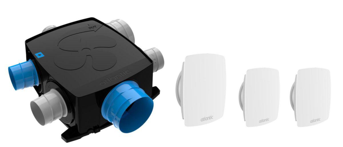 kit autocosy ih flex vmc auto intelligente plat 4 sanitaires (3 bouches line) Réf. 412290
