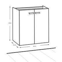 Meuble woodstock 2 portes argile 60 cm alterna for Meuble salle de bain woodstock