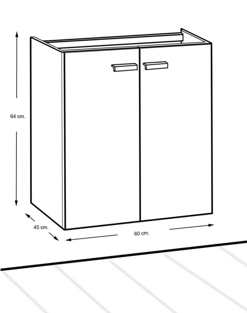 Alterna meuble concerto 2 portes argile 60 cm cedeo - Woodstock meubles ...