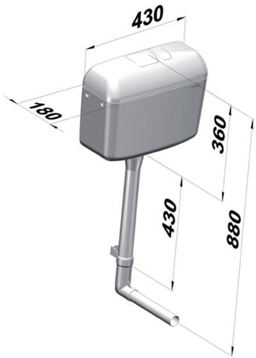 Réservoir 6000 A/E 3 / 6 L semi-bas Réf. 2722000