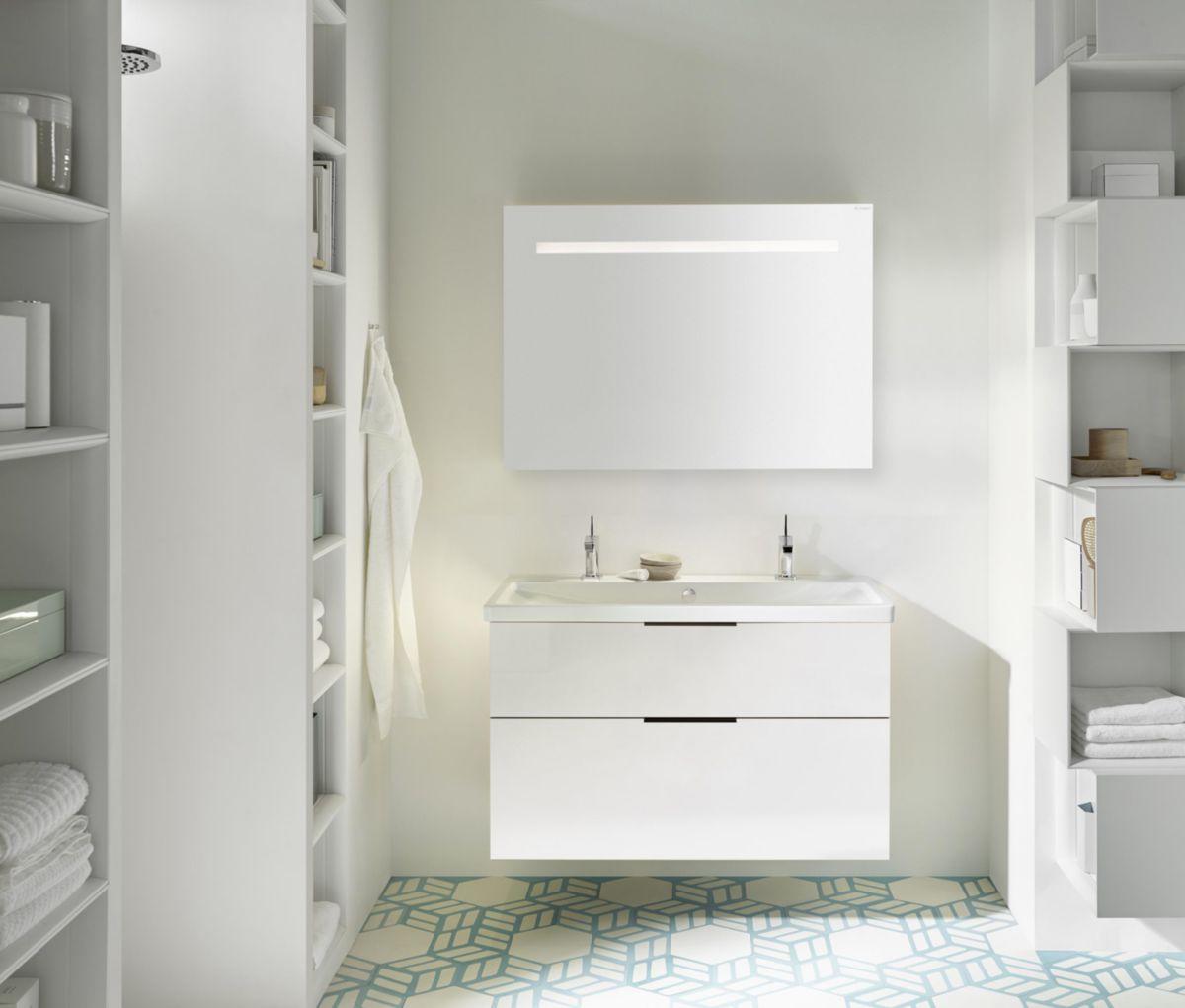 Meuble Salle De Bain Largeur 100 meuble salle de bain eqio smart 100 cm   envie de salle de bain