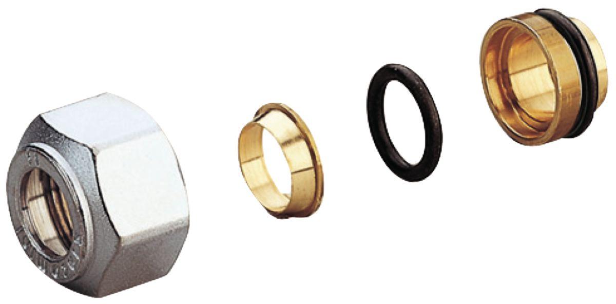 Adaptateur Nickelé Et Chromé Pour Tube Cuivre Diamètre 12 14 X 18 Réf R178 X 033
