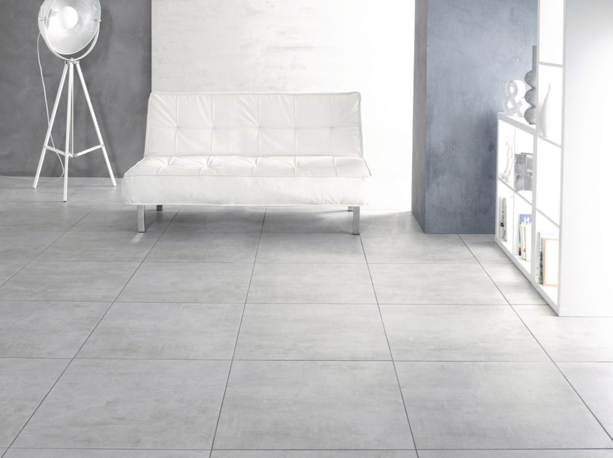Carrelage Salle De Bain Gris Clair carrelage sol intérieur grès émaillé infinity - gris clair