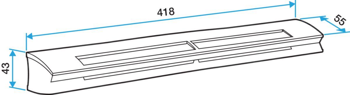 Entrée d'air hygroréglable EHL longueur socle acoustique, module 6-45 m3/h et section 5-30 cm3 couleur blanc 11014085