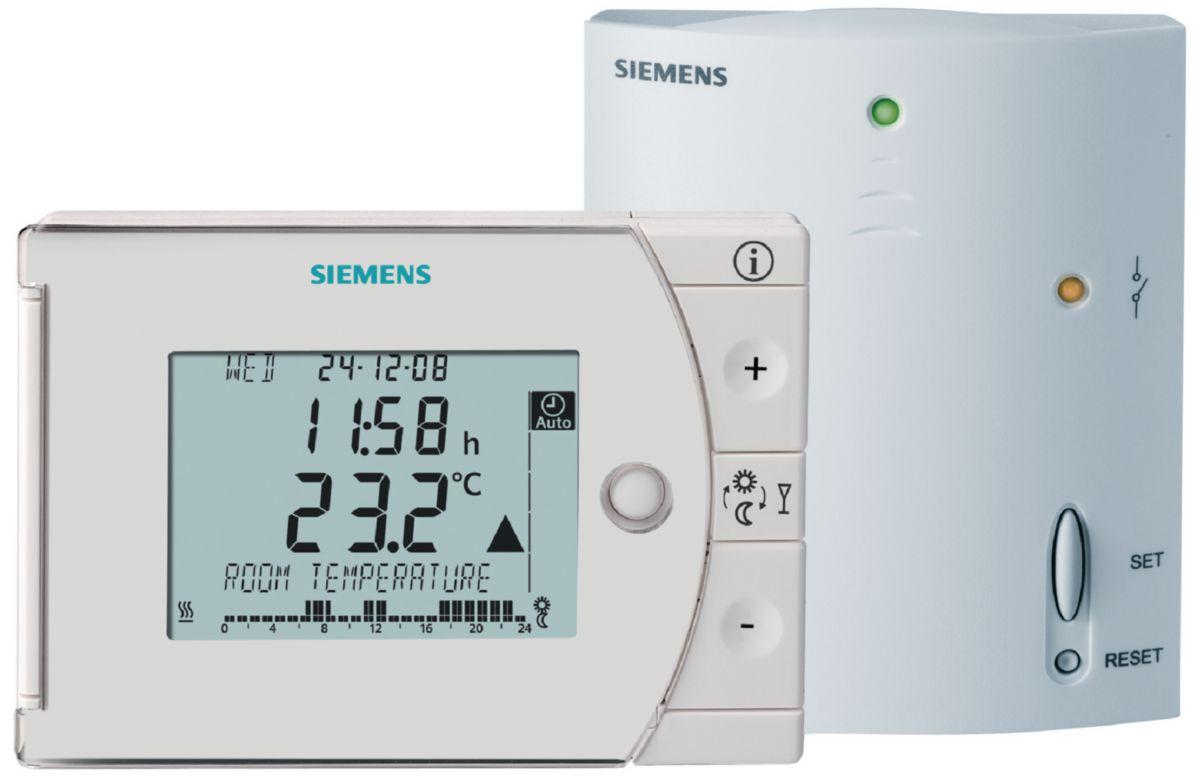 Thermostat d'ambiance digital programmable, avec horloge hebdomadaire, sans fil REV . réf. BPZ:REV24RF/SET-X