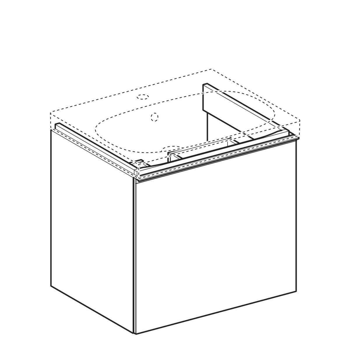 Allia meuble sous lavabo acanto largeur 60 cm 1 tiroir noir r f brossette - Meuble sous lavabo noir ...