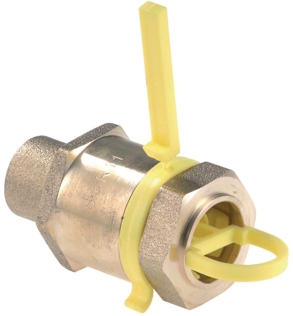 Raccord droit RC-1P-PEHD-CU à serrage mécanique pour PEHD à braser sur tube cuivre D18 calibre 15 Réf CD02067