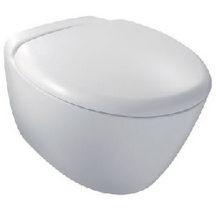 WC suspendu PRESQU'ÎLE caréné, abattant frein de chute, déclipsable