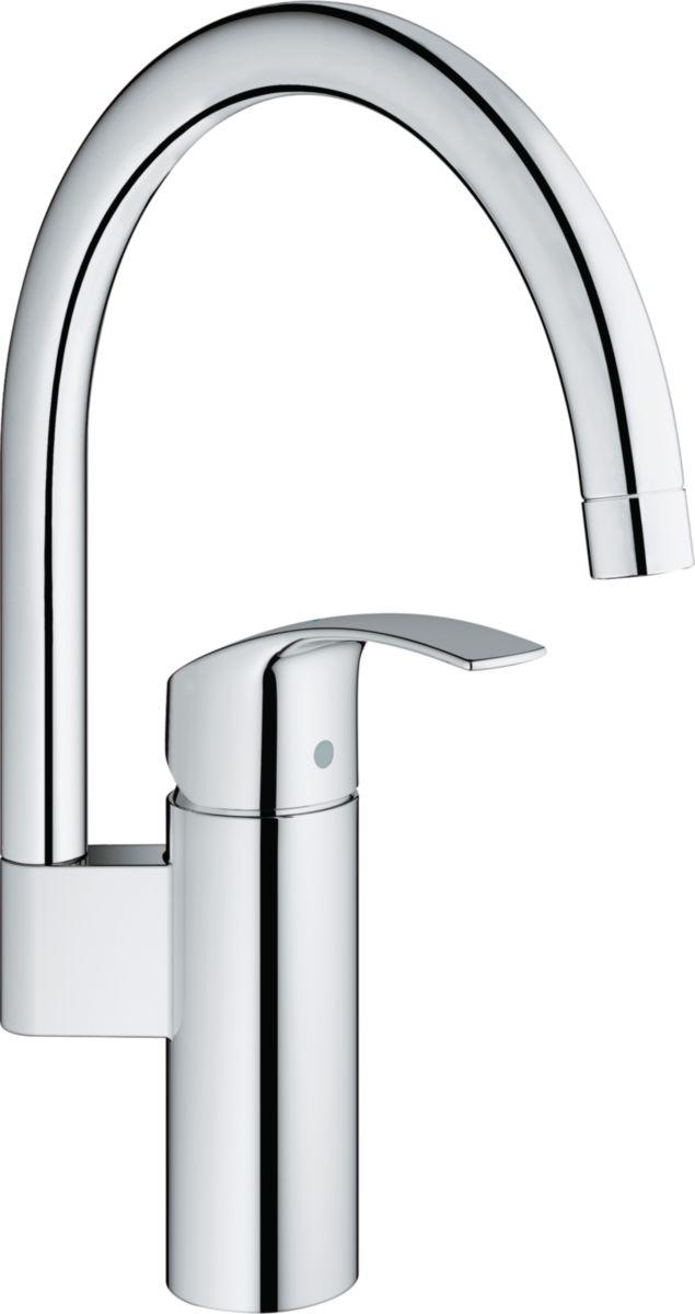 Mitigeur évier EUROSMART bec pivotant C3 GROHE Sanitaire CEDEO