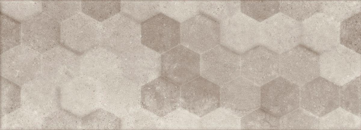 Faïence Arte Design George gris mat décor 32,5x90,5cm