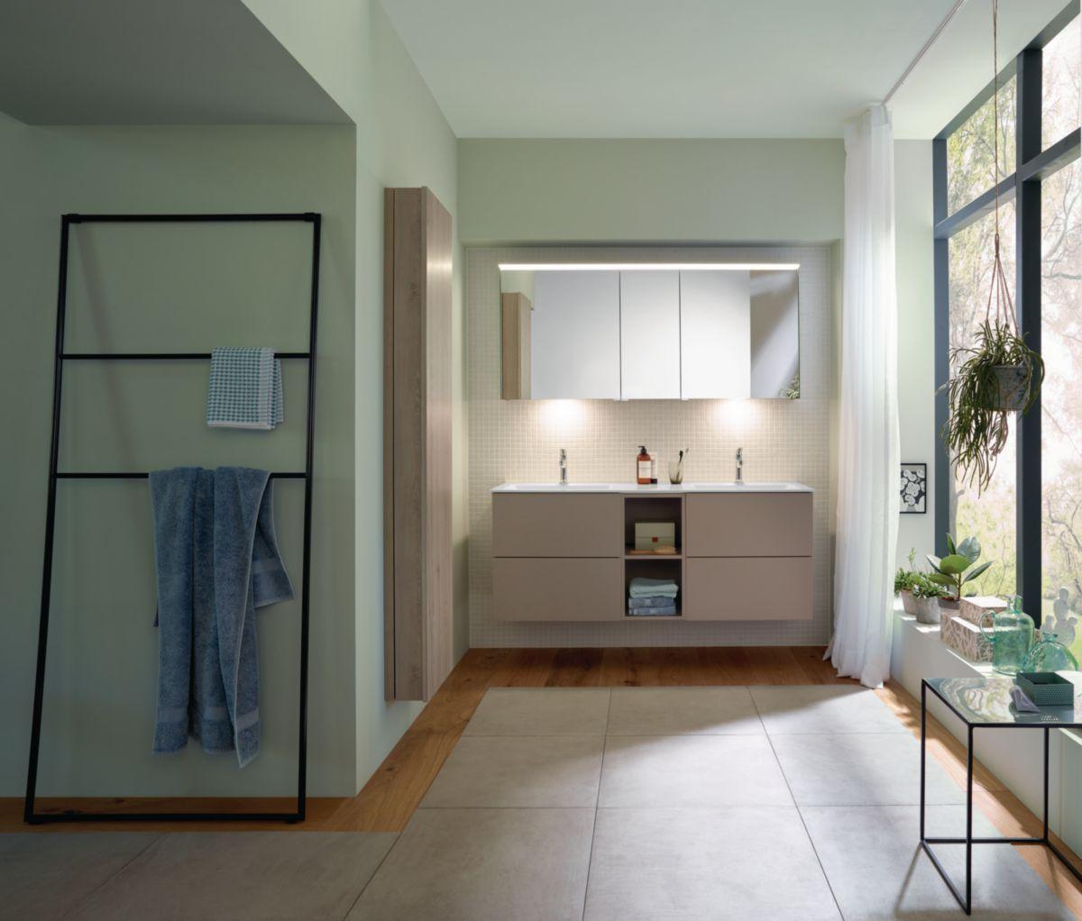 Meuble salle de bain free roseau mat 150 cm envie de Meuble salle de bain 150