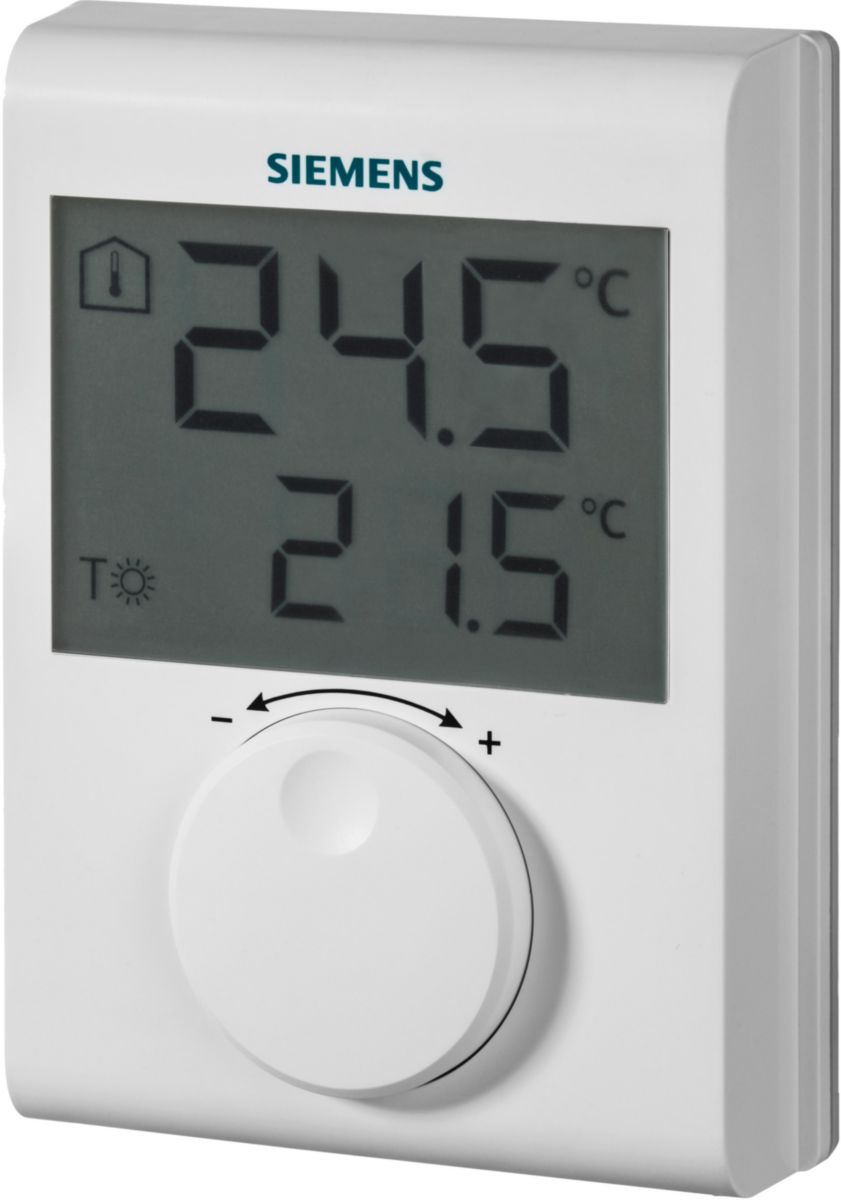 Thermostat d'ambiance grand LCD piles AAA réf. S55770-T377