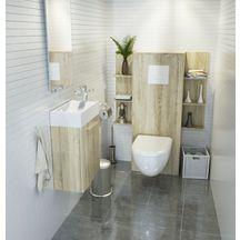Etagère WC finition chêne clair réf. BE31BS090ETA