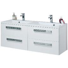 Meuble sous vasque SEDUCTA 120 cm 4 tiroirs blanc brillant
