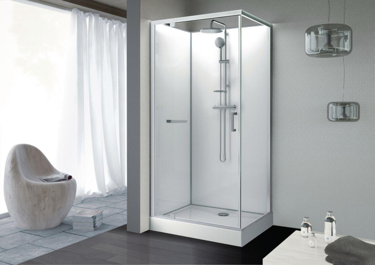 cabine de douche avec pompe de relevage cabine de douche tout quipe lapeyre with cabine de. Black Bedroom Furniture Sets. Home Design Ideas