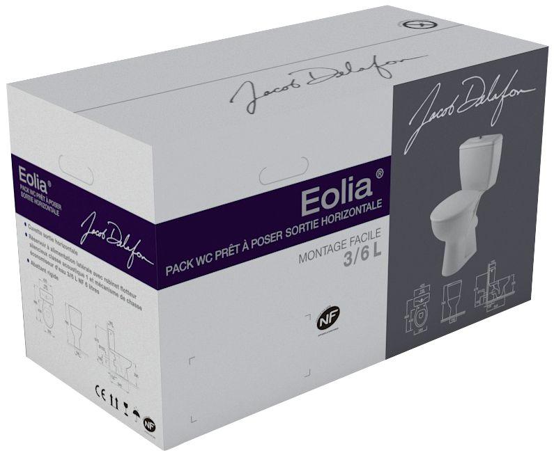 ... Pack WC EOLIA réservoir avec mécanisme 3 6 litres sortie horizontale,  blanc Réf E040300 e1a03e7d901e