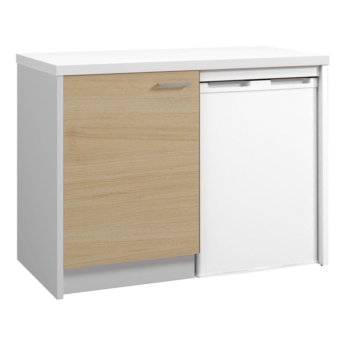 meuble bas 1 porte onelia colori chene en 60 cm rf abop060d11 moderna sanitaire cedeo