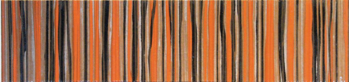 Listel mural intérieur Tonus - orange - 9,5x40 cm
