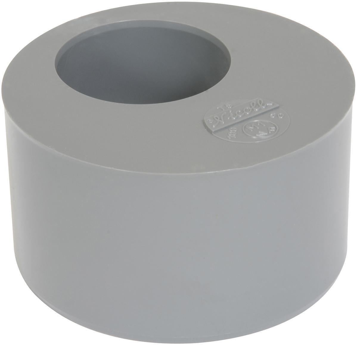 Tampon de réduction MF - T5 - PVC gris - Ø 100/50 mm